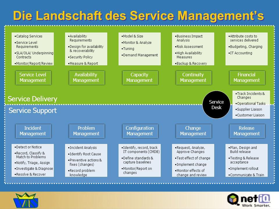 Die Landschaft des Service Management's