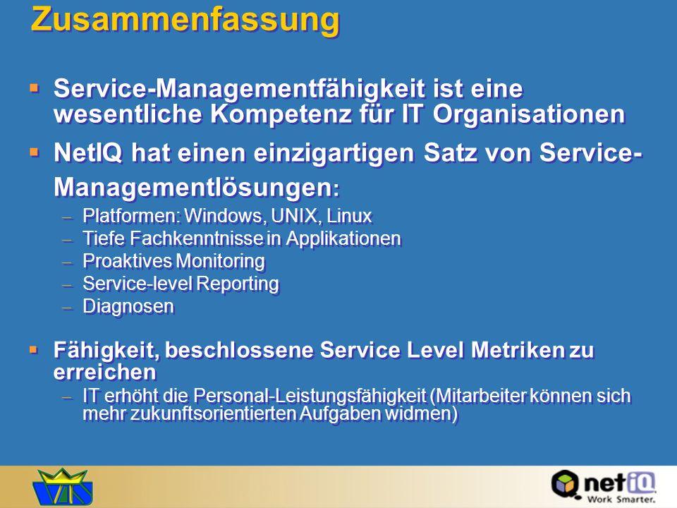 Zusammenfassung Service-Managementfähigkeit ist eine wesentliche Kompetenz für IT Organisationen.