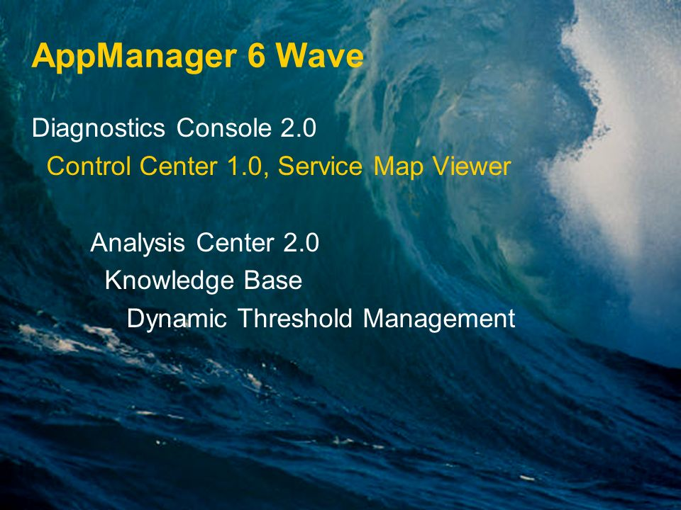 AppManager 6 Wave Diagnostics Console 2.0