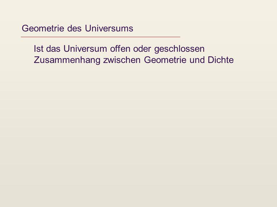 Geometrie des Universums