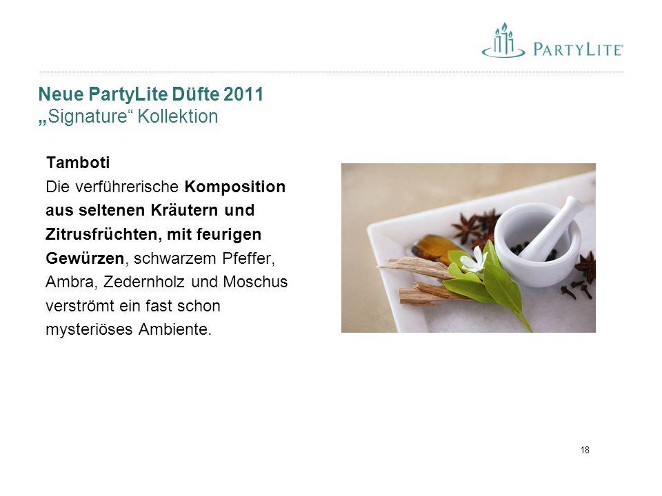"Neue PartyLite Düfte 2011 ""Signature Kollektion"