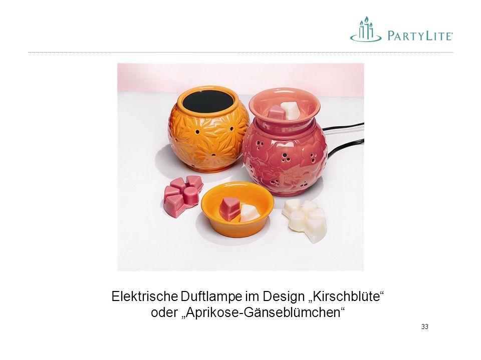 """Elektrische Duftlampe im Design """"Kirschblüte oder """"Aprikose-Gänseblümchen"""