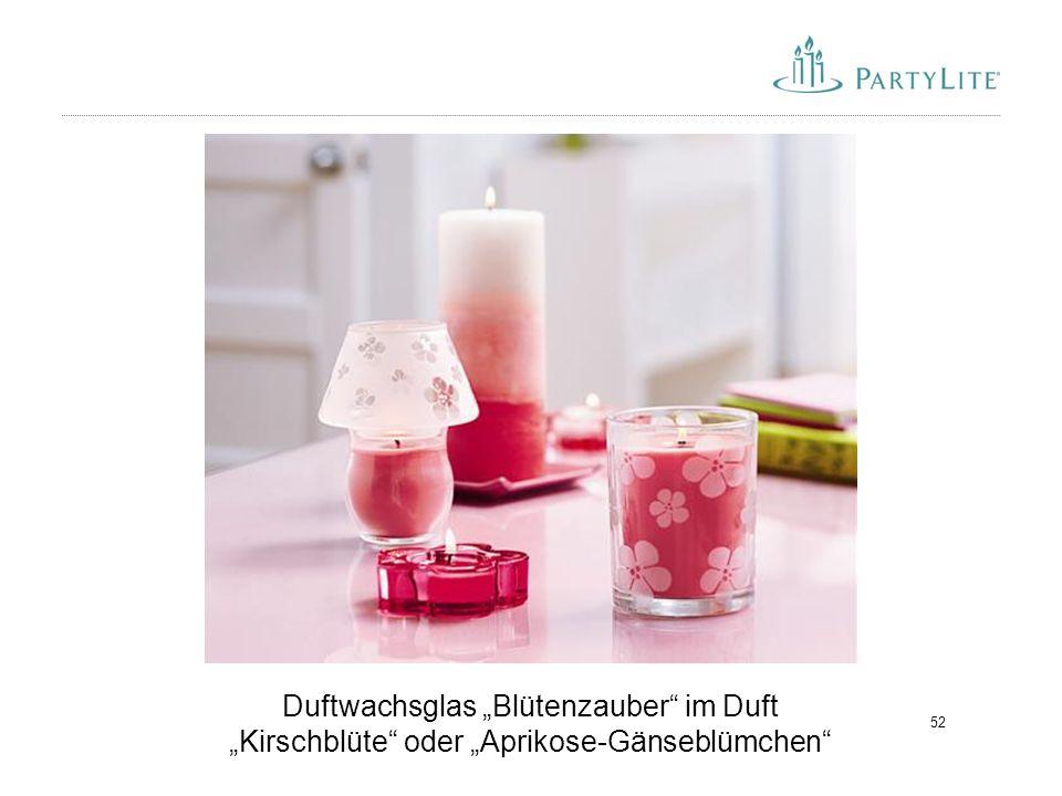 """Duftwachsglas """"Blütenzauber im Duft """"Kirschblüte oder """"Aprikose-Gänseblümchen"""