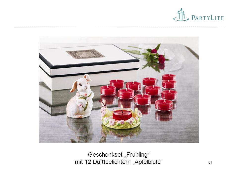 """Geschenkset """"Frühling mit 12 Duftteelichtern """"Apfelblüte"""