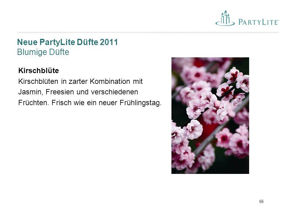 Neue PartyLite Düfte 2011 Blumige Düfte