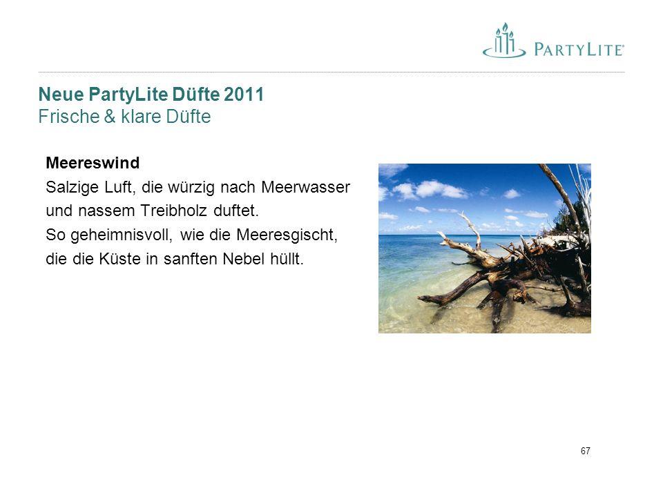 Neue PartyLite Düfte 2011 Frische & klare Düfte