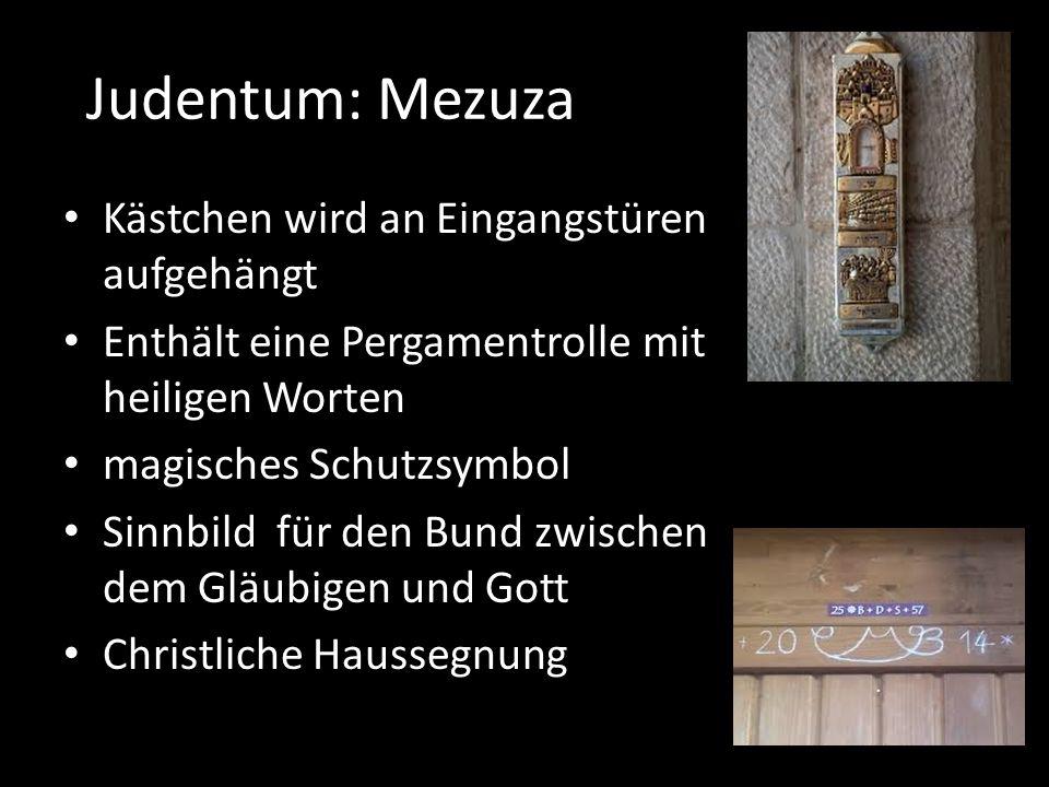 Judentum: Mezuza Kästchen wird an Eingangstüren aufgehängt