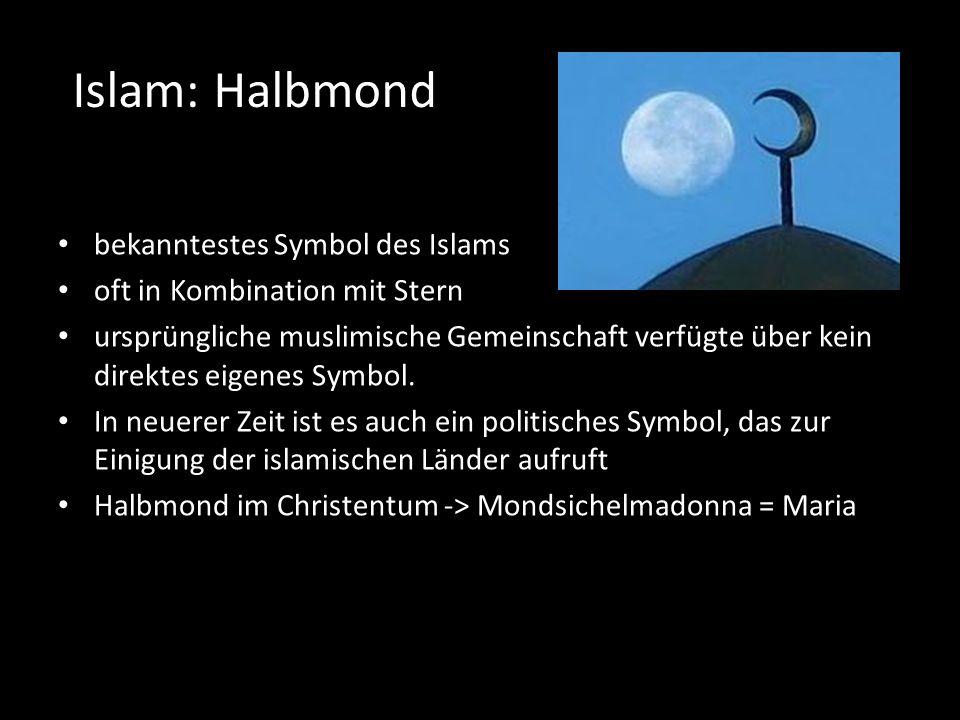Islam: Halbmond bekanntestes Symbol des Islams