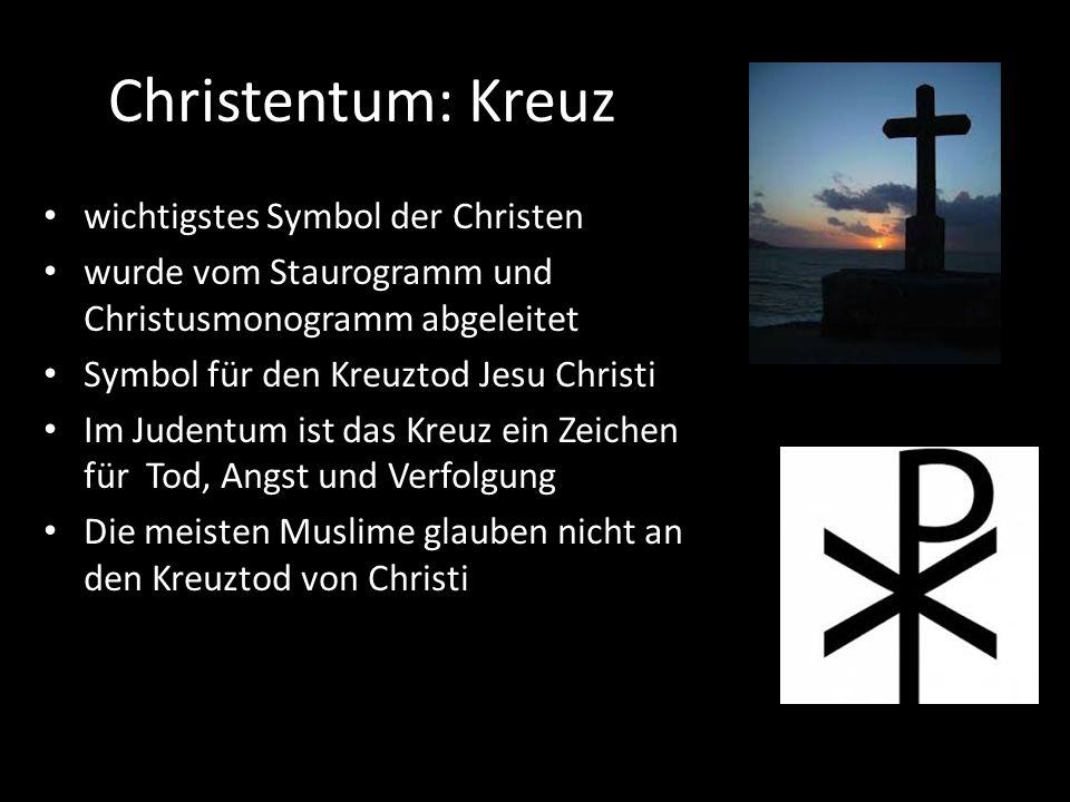 Christentum: Kreuz wichtigstes Symbol der Christen