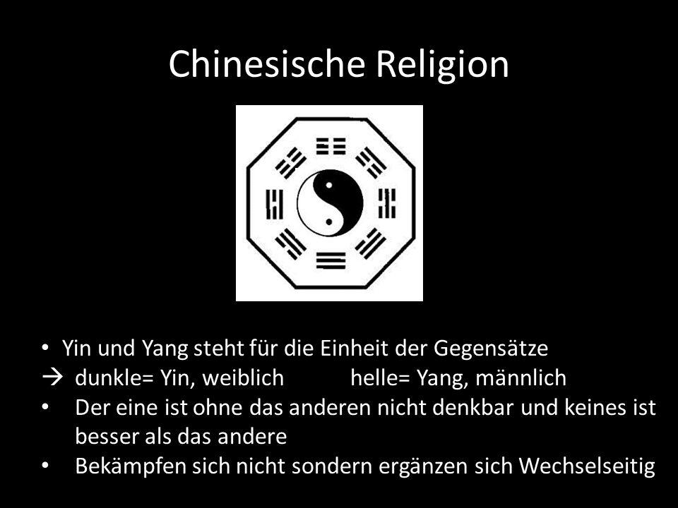 Chinesische Religion Yin und Yang steht für die Einheit der Gegensätze