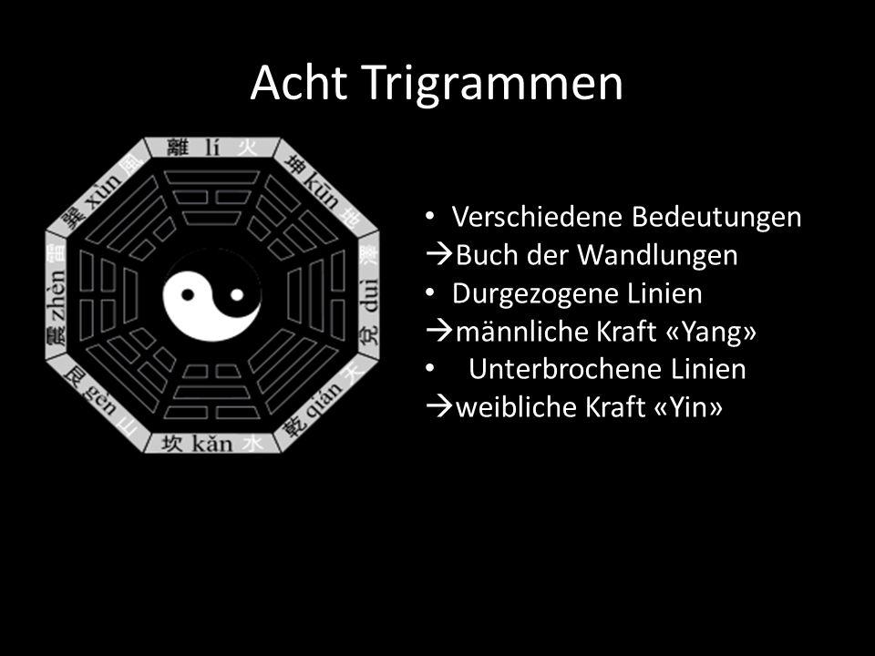 Acht Trigrammen Verschiedene Bedeutungen Buch der Wandlungen