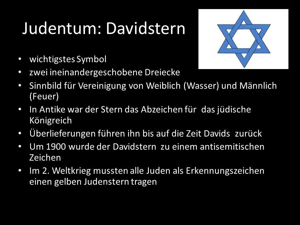Judentum: Davidstern wichtigstes Symbol