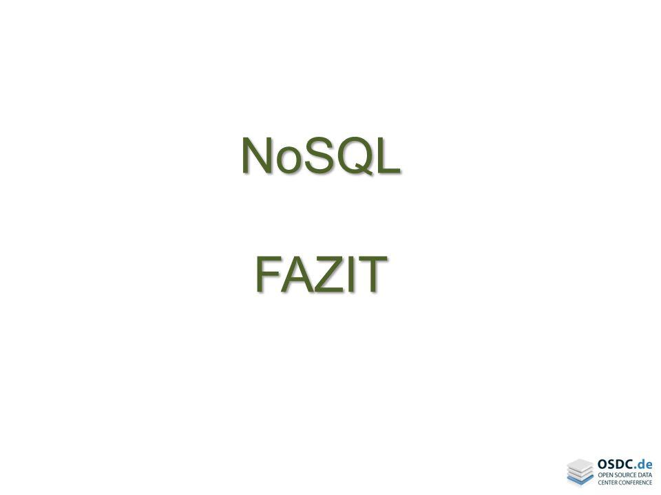 NoSQL FAZIT