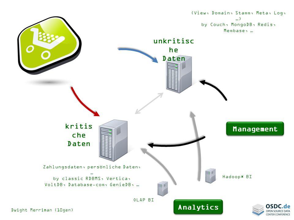 unkritische Daten kritische Daten Management Analytics