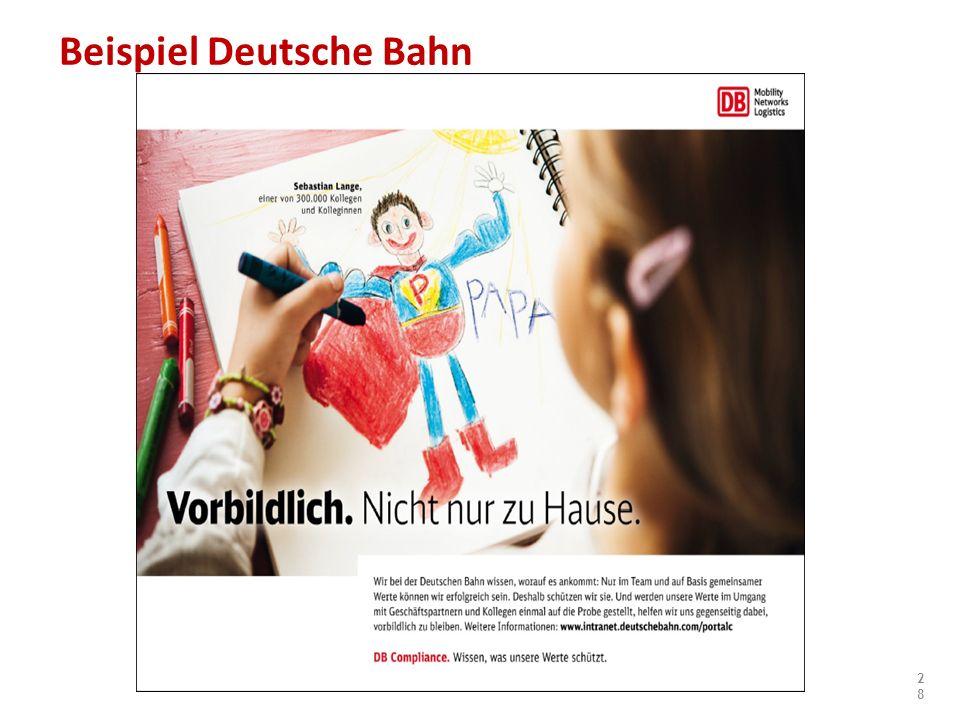 Beispiel Deutsche Bahn