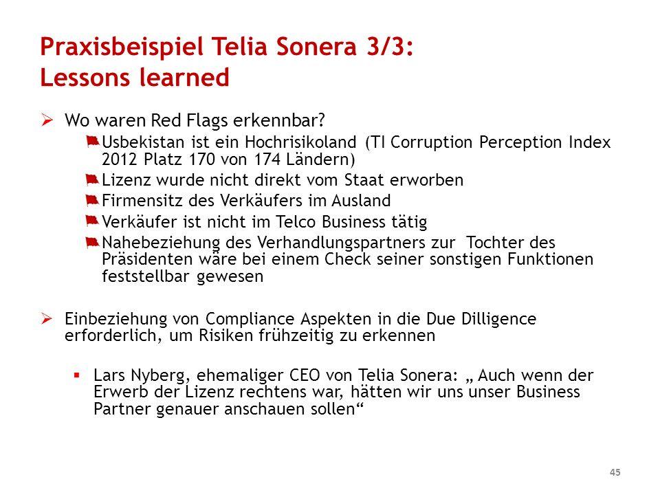 Praxisbeispiel Telia Sonera 3/3: Lessons learned