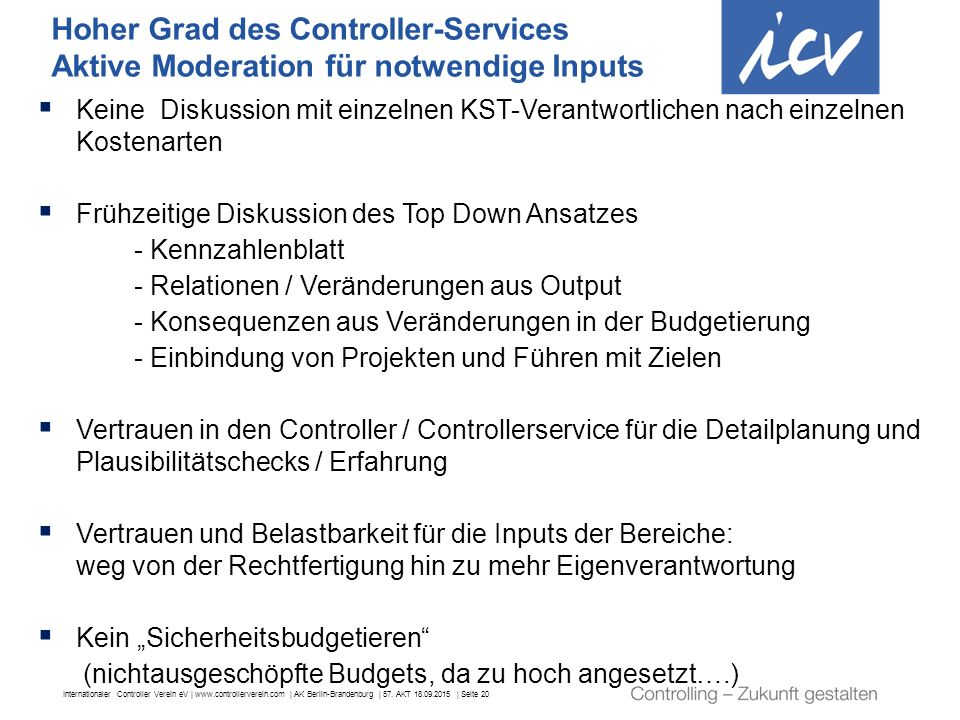 Hoher Grad des Controller-Services