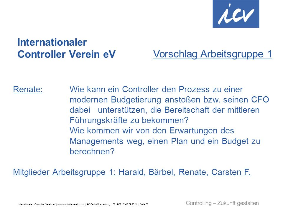 Internationaler Controller Verein eV