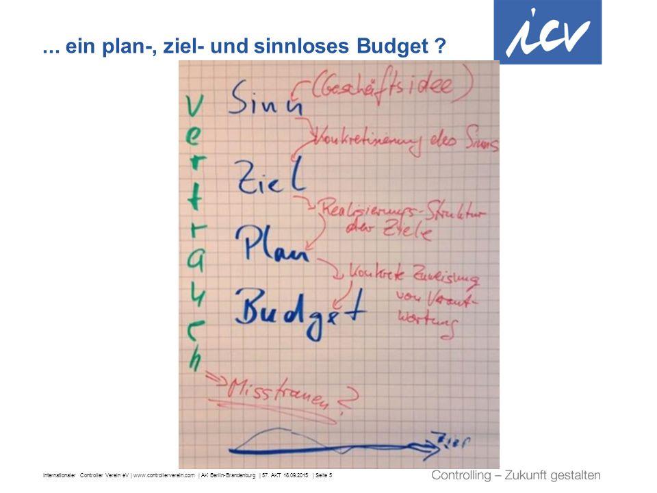 ... ein plan-, ziel- und sinnloses Budget