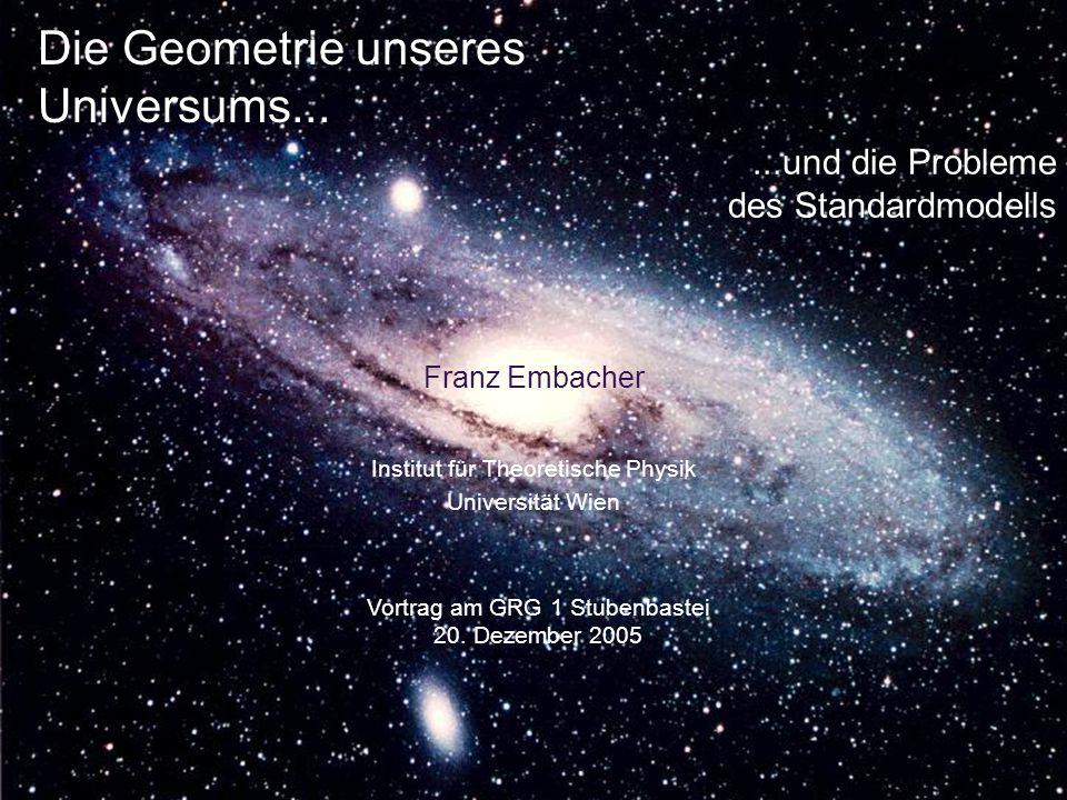 Die Geometrie unseres Universums...