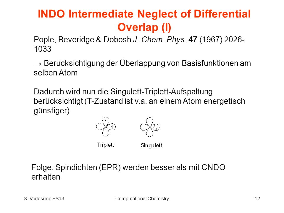 INDO Intermediate Neglect of Differential Overlap (I)