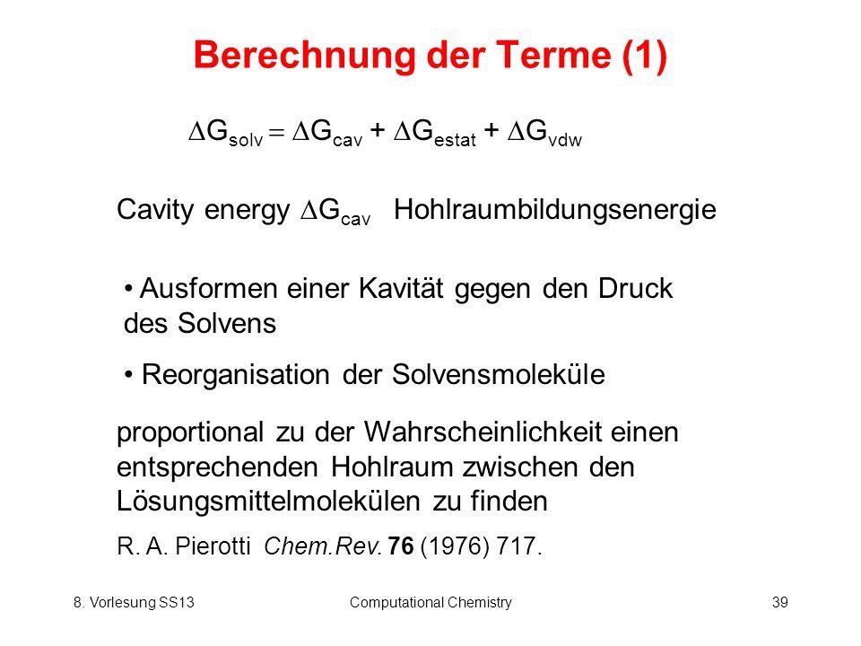 Berechnung der Terme (1)