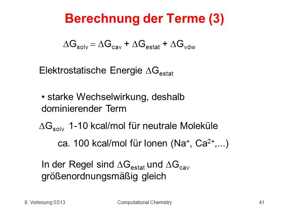 Berechnung der Terme (3)