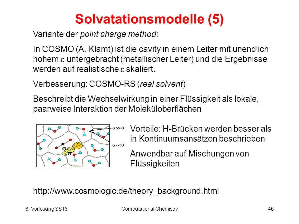 Solvatationsmodelle (5)