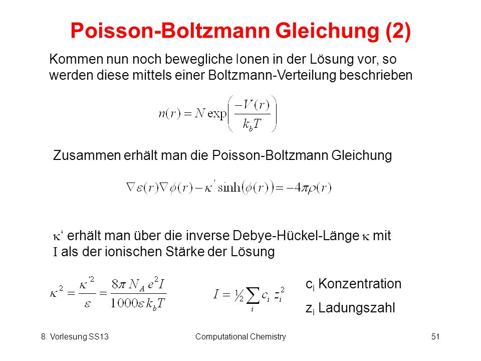 Poisson-Boltzmann Gleichung (2)