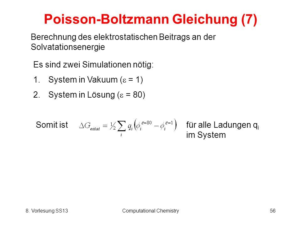 Poisson-Boltzmann Gleichung (7)