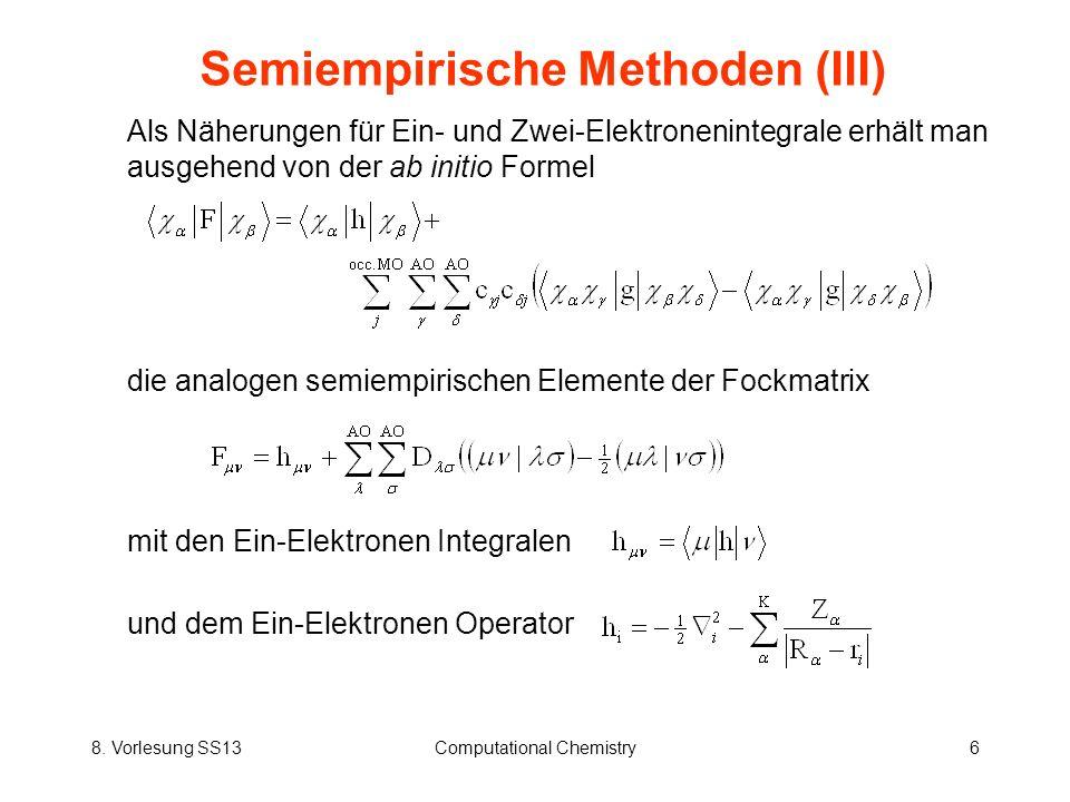 Semiempirische Methoden (III)