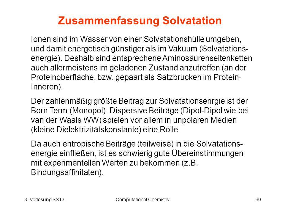 Zusammenfassung Solvatation