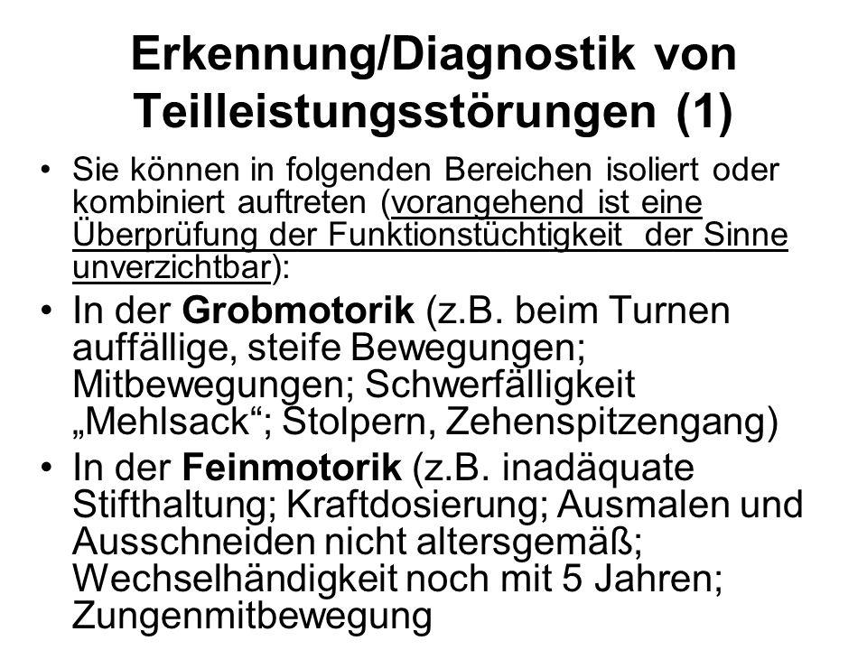 Erkennung/Diagnostik von Teilleistungsstörungen (1)