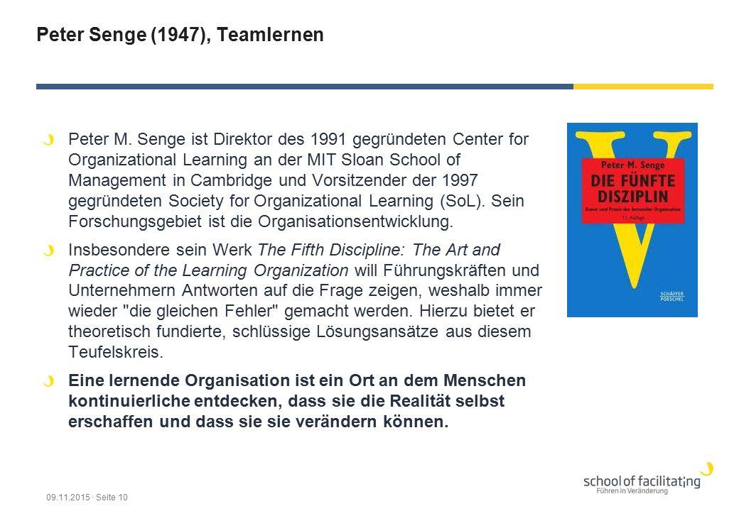 Peter Senge (1947), Teamlernen