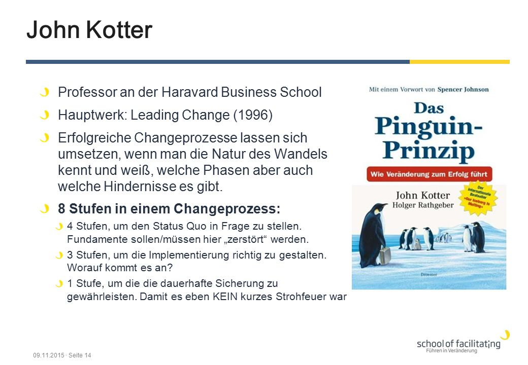 John Kotter Professor an der Haravard Business School