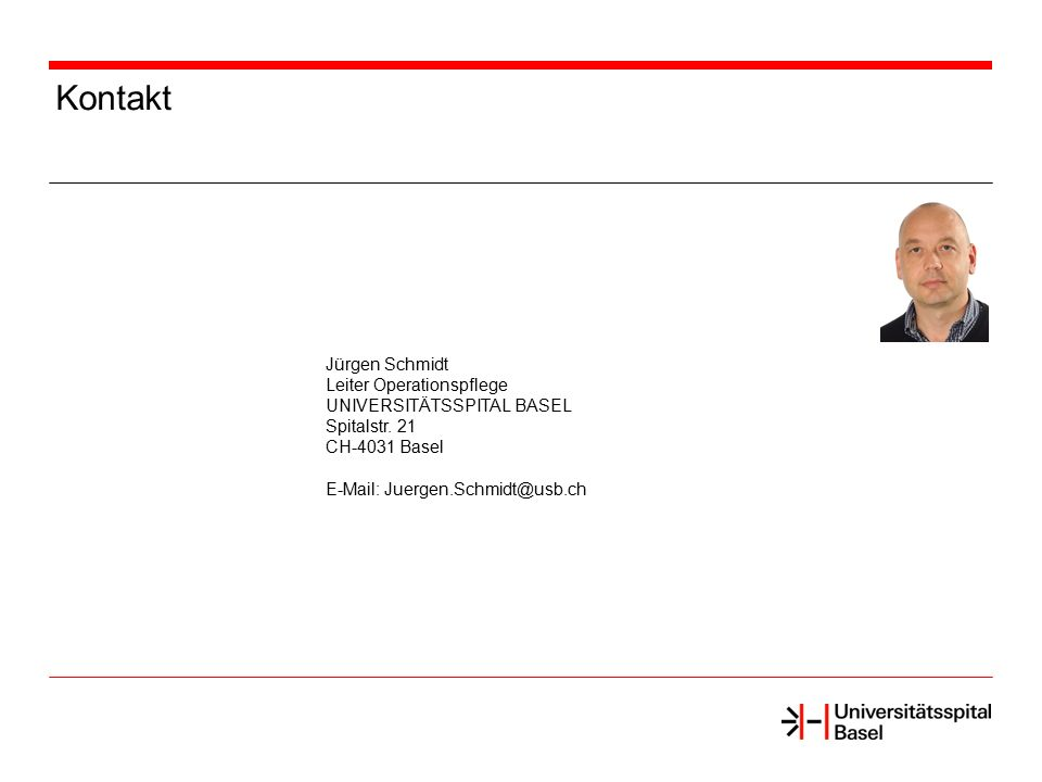Kontakt Jürgen Schmidt Leiter Operationspflege