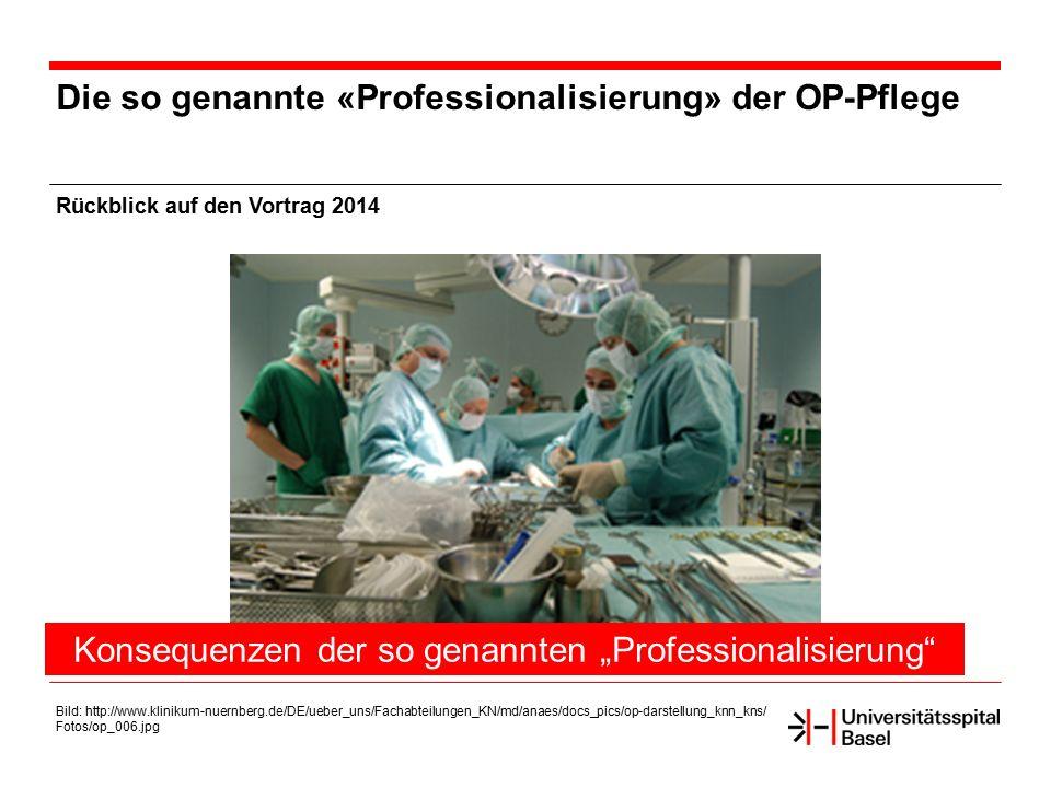 """Konsequenzen der so genannten """"Professionalisierung"""