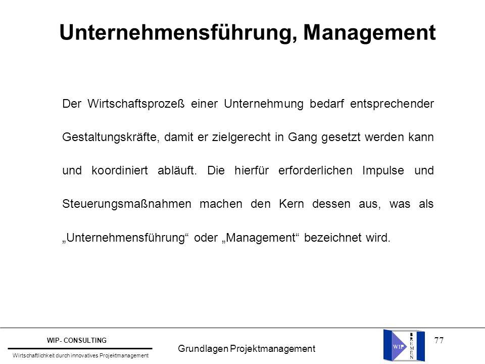 Unternehmensführung, Management