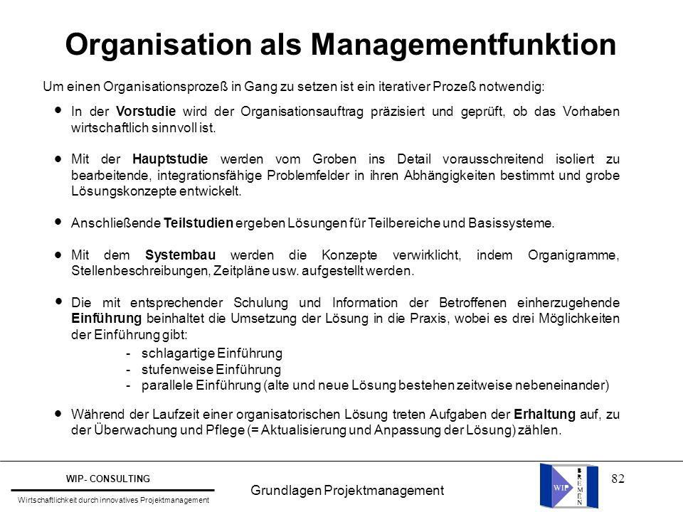 Organisation als Managementfunktion