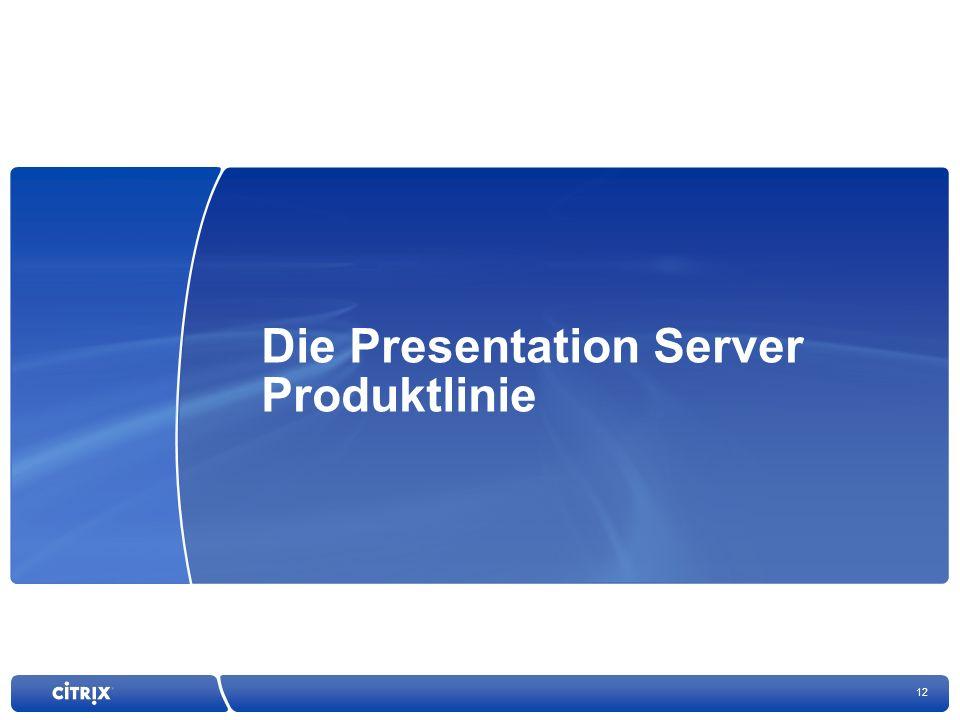 Die Presentation Server Produktlinie