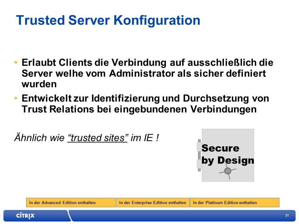 Trusted Server Konfiguration