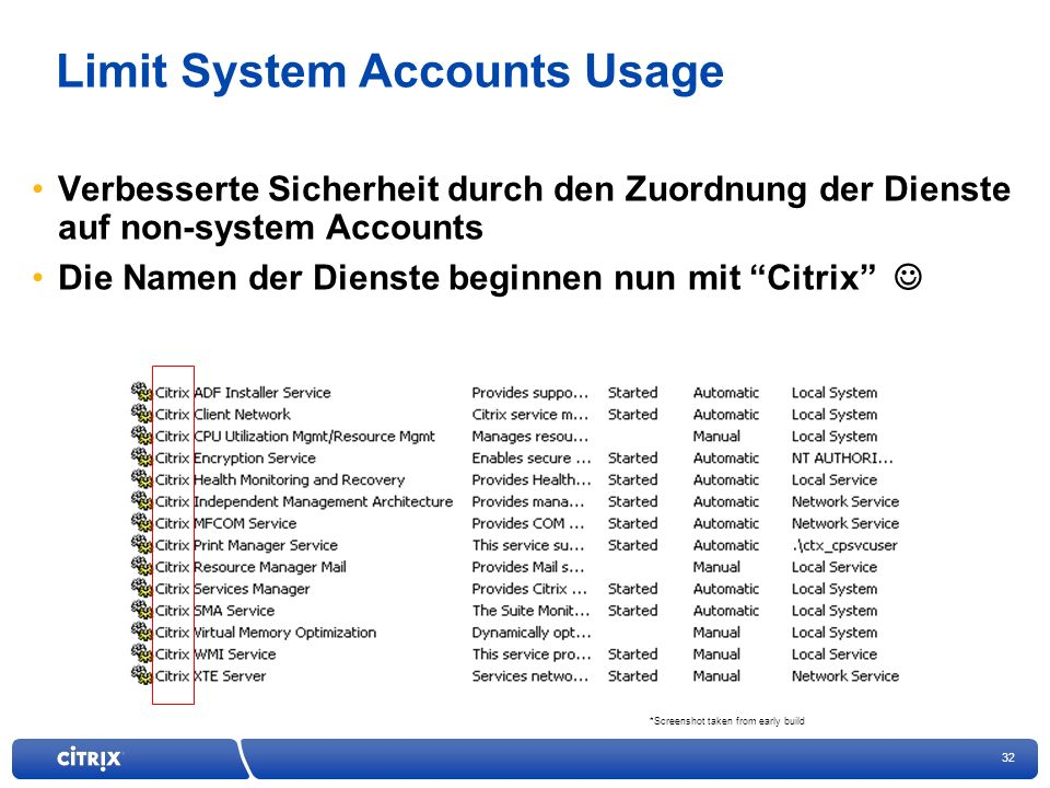 Limit System Accounts Usage