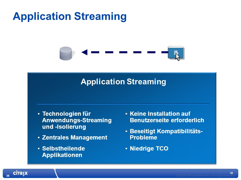 Application Streaming