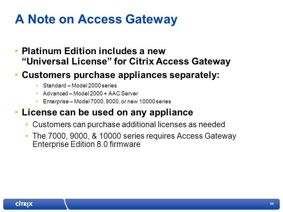 A Note on Access Gateway