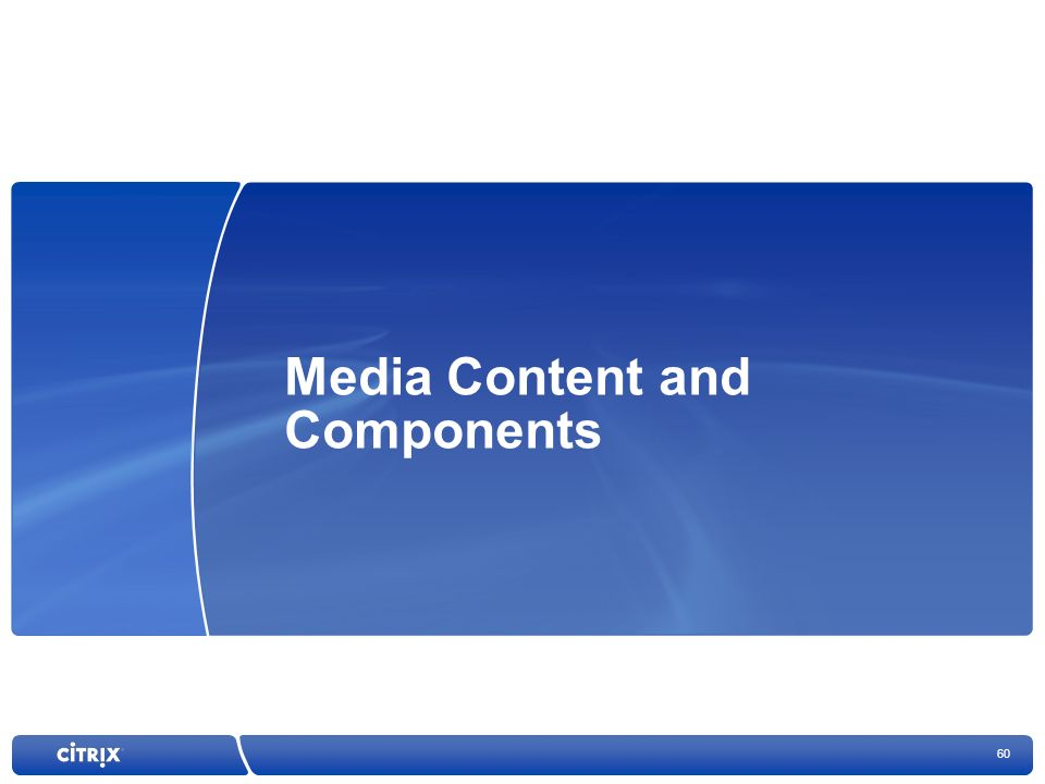 Media Content and Components