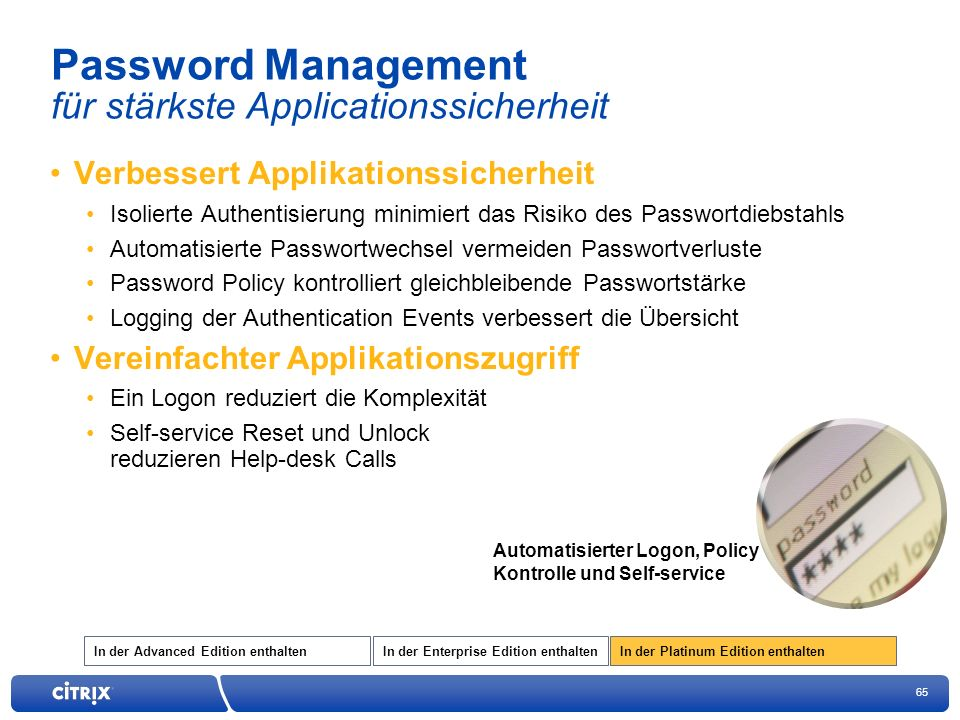Password Management für stärkste Applicationssicherheit