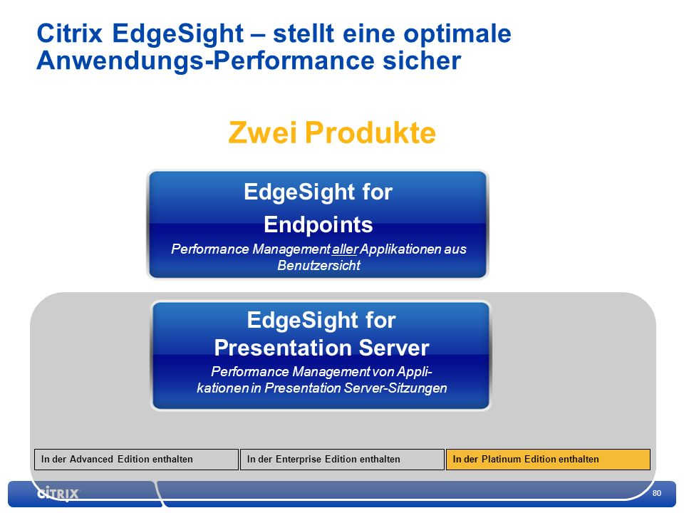 Citrix EdgeSight – stellt eine optimale Anwendungs-Performance sicher