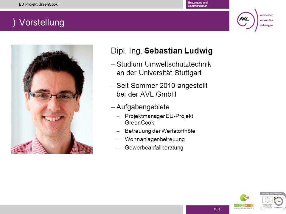 Vorstellung Dipl. Ing. Sebastian Ludwig