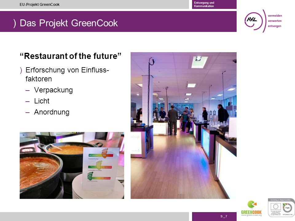 Das Projekt GreenCook Restaurant of the future