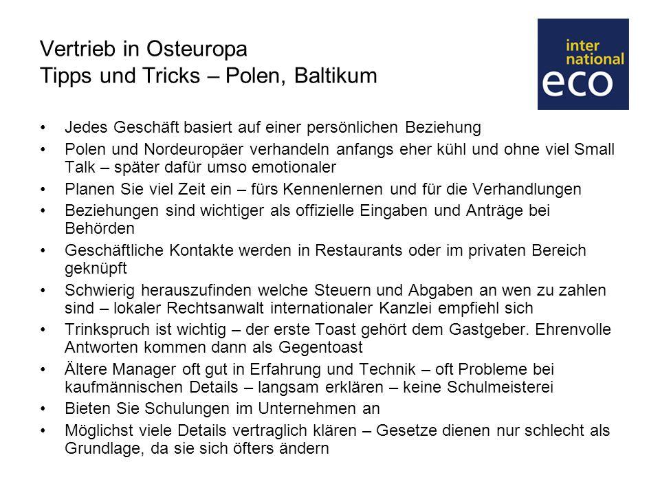 Vertrieb in Osteuropa Tipps und Tricks – Polen, Baltikum